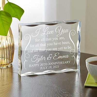Yet to Be Anniversary Acrylic Block