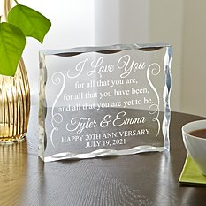 Yet to Be Anniversary Acrylic Block