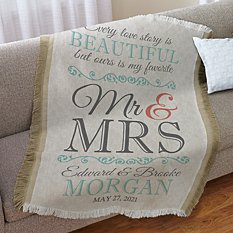 Every Love Story Wedding Throw