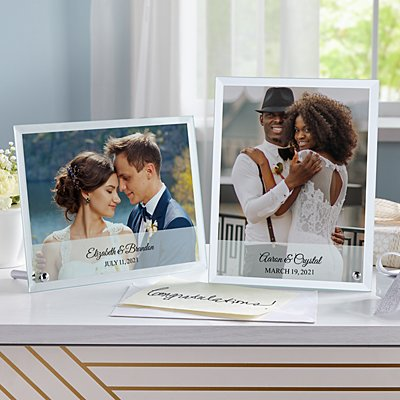 Wedding Photo Glass Message  Frame