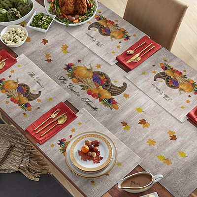 Harvest Gather Table Runner & Placemats