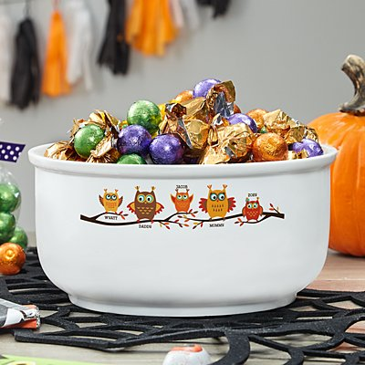 Owl Family Candy Bowl