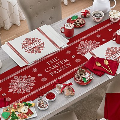 Classic Snowflake Table Runner & Placemats