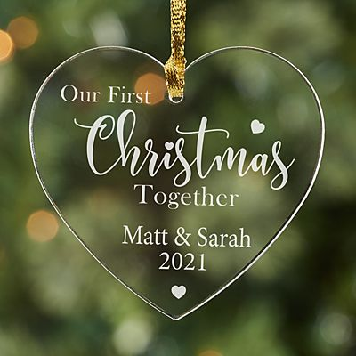 First Christmas Together Heart Acrylic Ornament