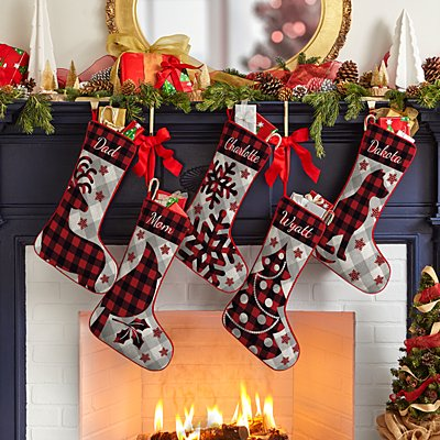 Perfectly Plaid Rustic Stocking