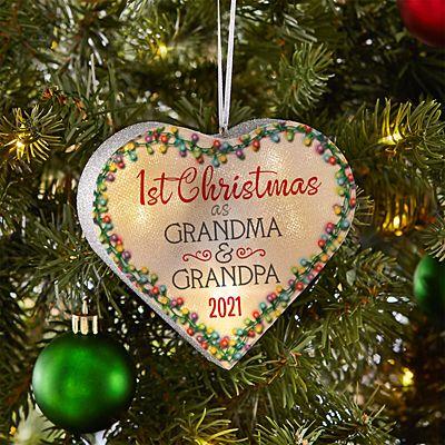 TwinkleBright® LED 1st Christmas Heart Ornament