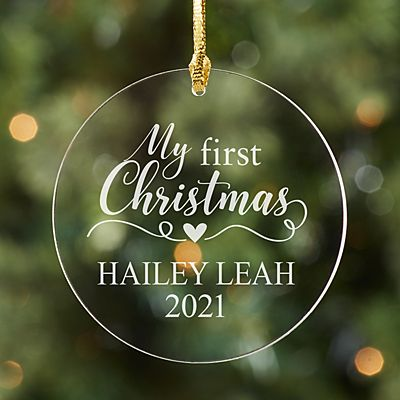 Baby's First Christmas Round Acrylic Ornament