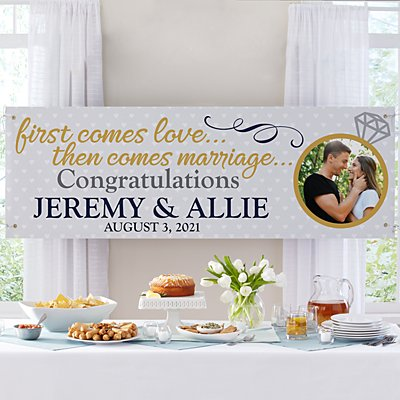 Engagement Celebration Photo Banner-6ft