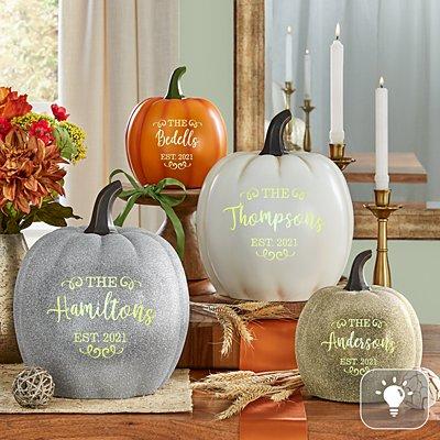 Light-Up Established Pumpkin
