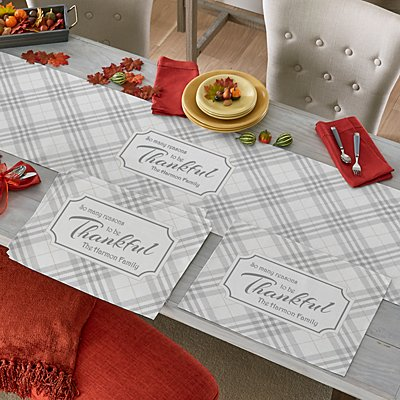 Reasons To Be Thankful Table Runner & Placemats