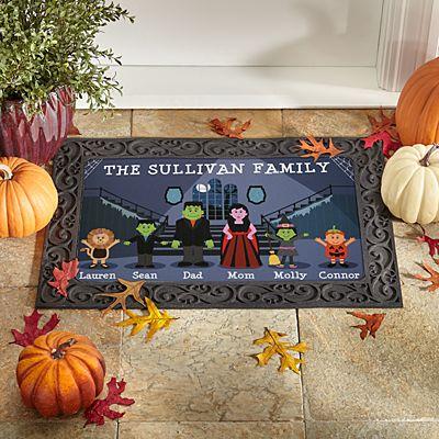 Spooky Family Doormat