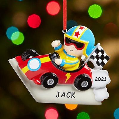 Vroom Vroom Race Car Driver Ornament