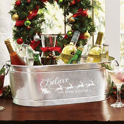 We Believe Holiday Beverage Tub