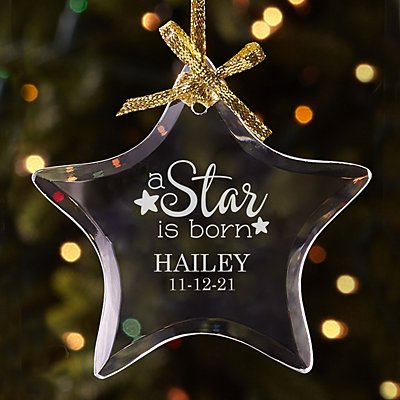 A Star is Born Glass Ornament