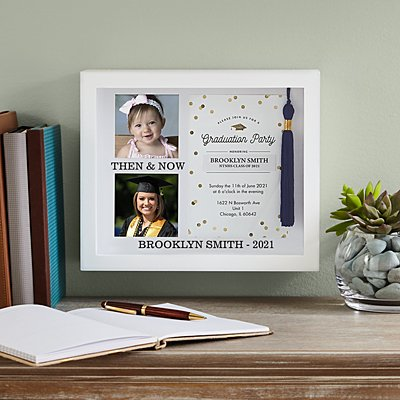 Then & Now Graduation Shadow Box