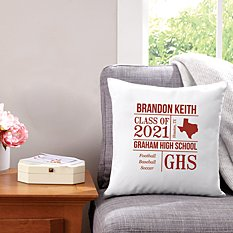 All About the Graduate Throw Pillow