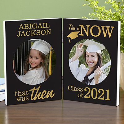 Then and Now Graduation Photo Panel