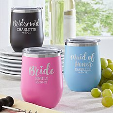 Bridal Party Insulated Wine Tumbler