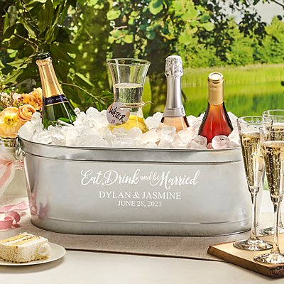 Eat, Drink & Be Married Beverage Tub