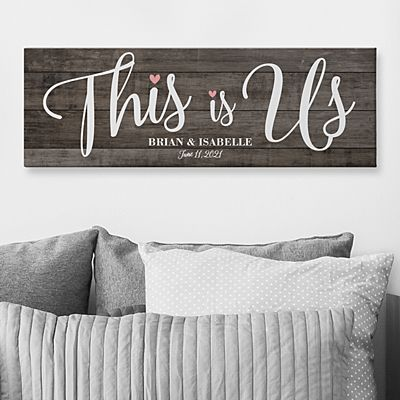 This is Us Wedding Canvas