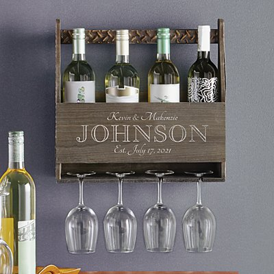 A Toast to Love Wood Wine Rack