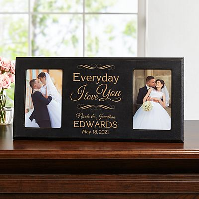 Everyday I Love You Wood Frame
