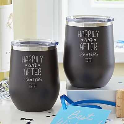 Happily Ever After Insulated Wine Tumbler Set