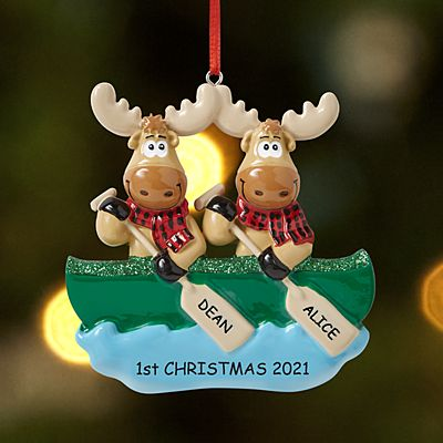 Merry Christmoose Couple Ornament