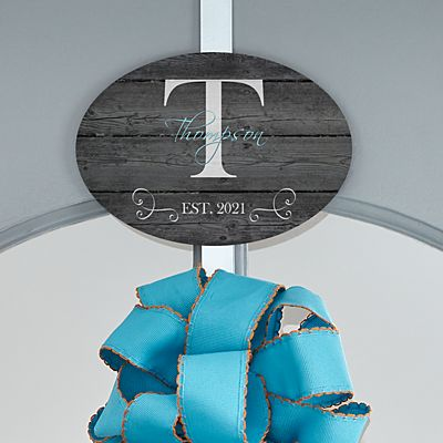 Family Name & Initial Decorative Wreath Holder