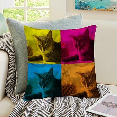 Pop Art Pet Photo Cushion