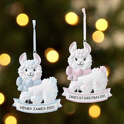 Fa La La Llama Baby Ornament