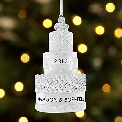 Celebrate Love Wedding Cake Ornament