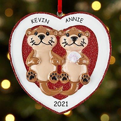 Otter Love Couple Ornament