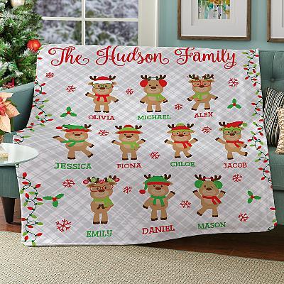 Smart and Sassy Reindeer Plush Blanket