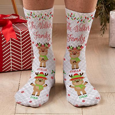 Smart and Sassy Reindeer Socks