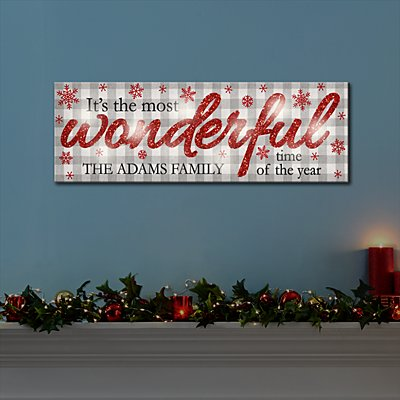 TwinkleBright™ LED-Wonderful Time of the Year Canvas