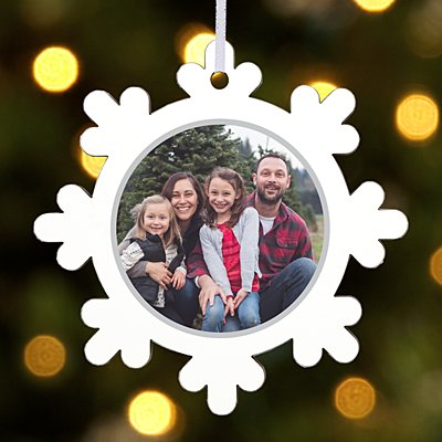 Winter Wishes Photo Snowflake Ornament