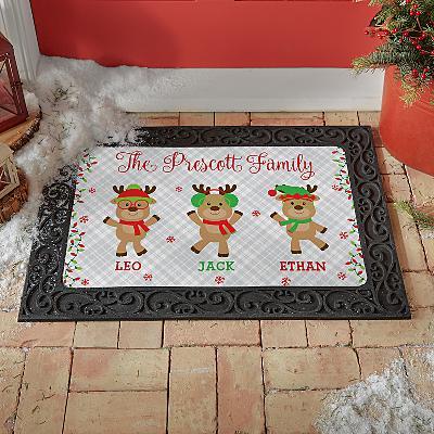Smart and Sassy Reindeer Doormat