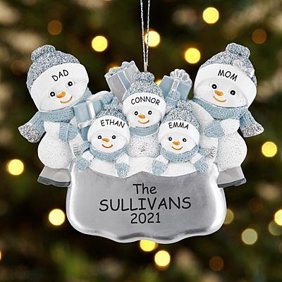 The Original Snow Buddies Santa's Present Family Ornament