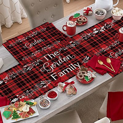 Winter Plaid Table Runner & Placemats