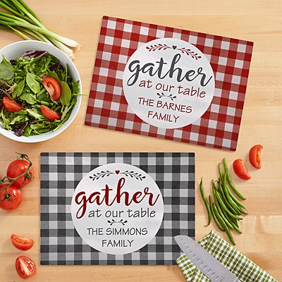 Family Gather Glass Cutting Board