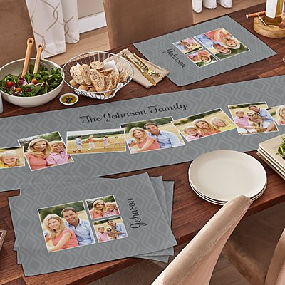 Picture It! Photo Memories Table Runner & Placemats