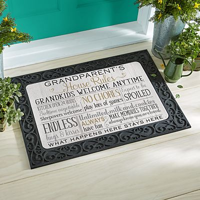 Grandparents Rules Doormat
