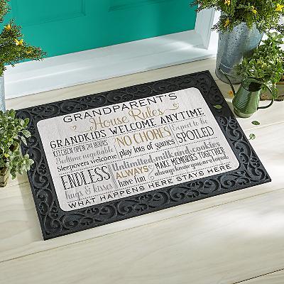 Grandparents Rules Doormat