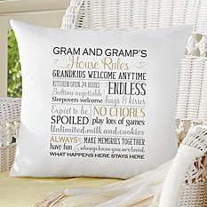 Grandparents Rules Throw Pillow