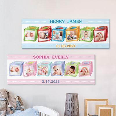 ABC Baby Blocks Photo Canvas