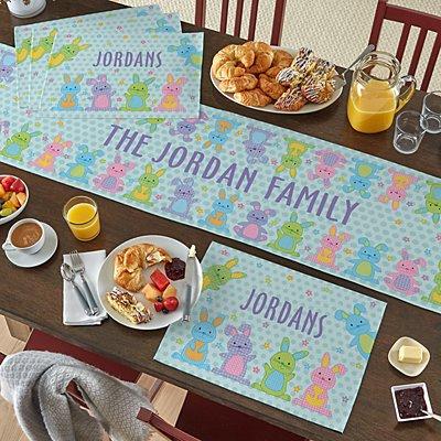 Polka Dot Bunnies Table Runner & Placemats
