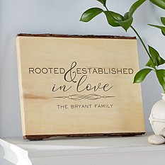 Rooted in Love Rustic  Wood Sign