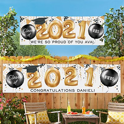 Up and Away Graduation Banner