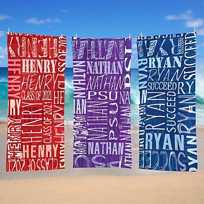 Signature Style Graduation Beach Towel